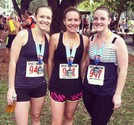 My sisters & me after the Naples Half Marathon.
