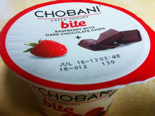 Chobani bite chocolate raspberry