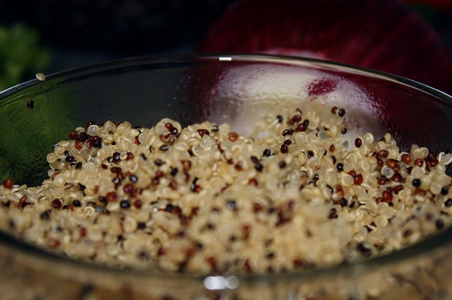 Quinoa for Black Bean Salad