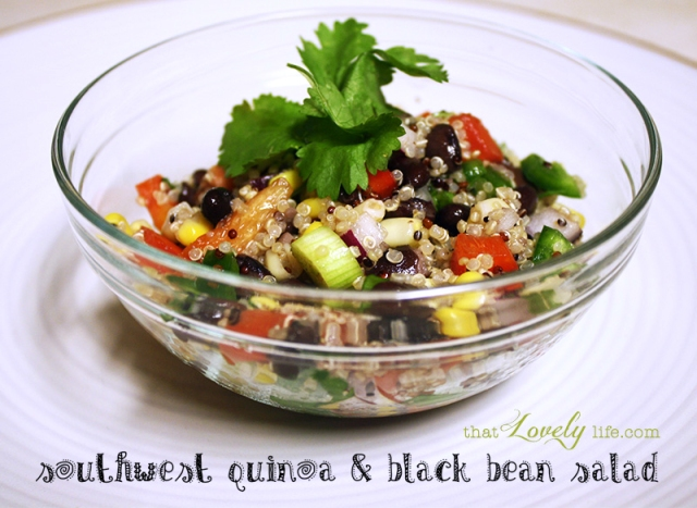 Southwest Quinoa and Black Bean Salad | ThatLovelyLife.com