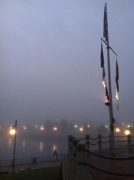 Foggy morning running