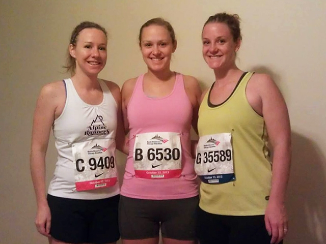 Ready to go run the marathon!