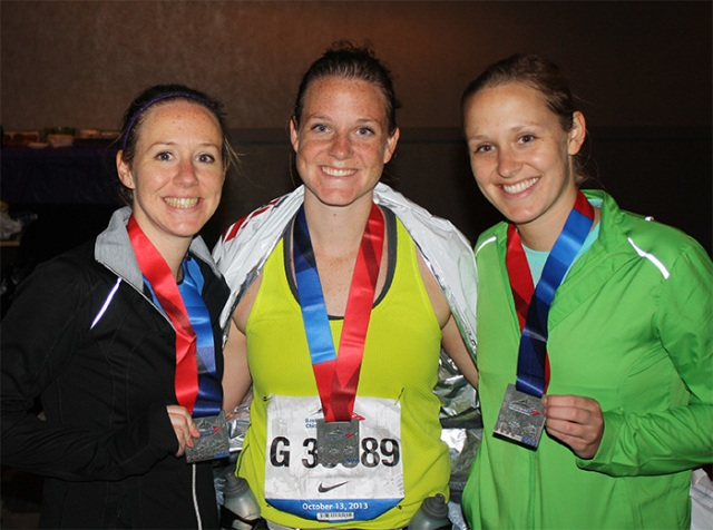 Three sisters = Three marathon runners.
