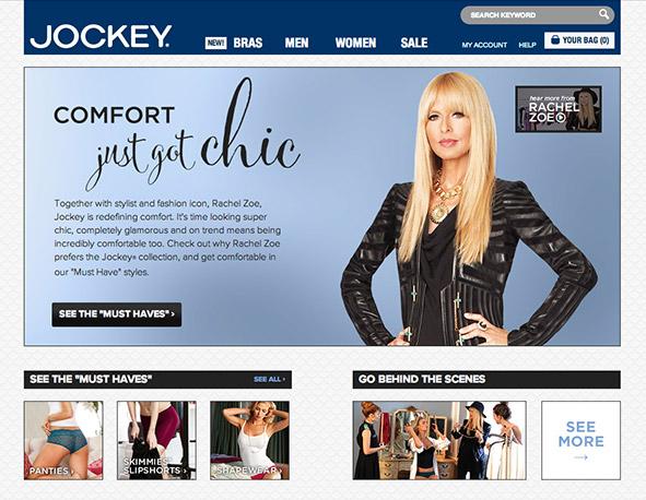 Jockey + Rachel Zoe Microsite
