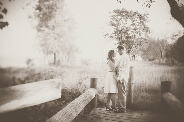 beach engagement vintage photography