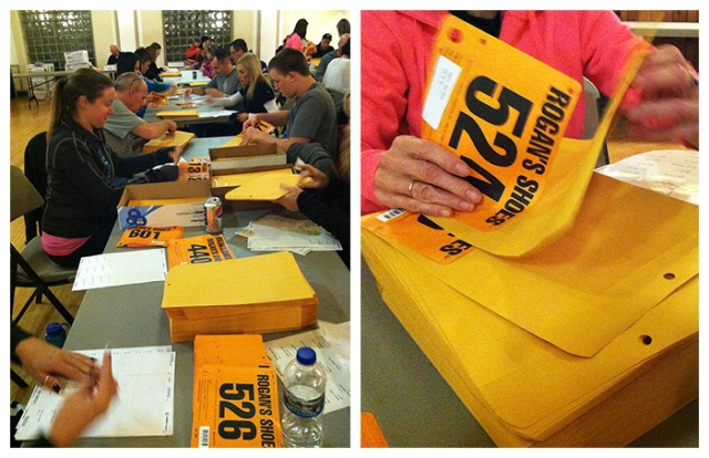 Packet Stuffing for the Mayor's Day Turkey Run