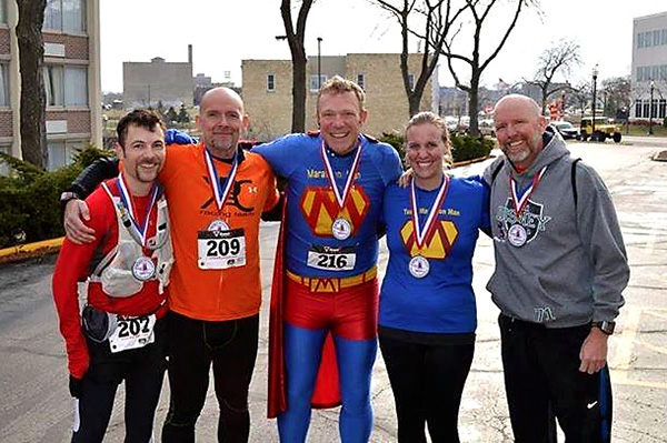 Marathon Man with some Frost 5 Challenge runners.