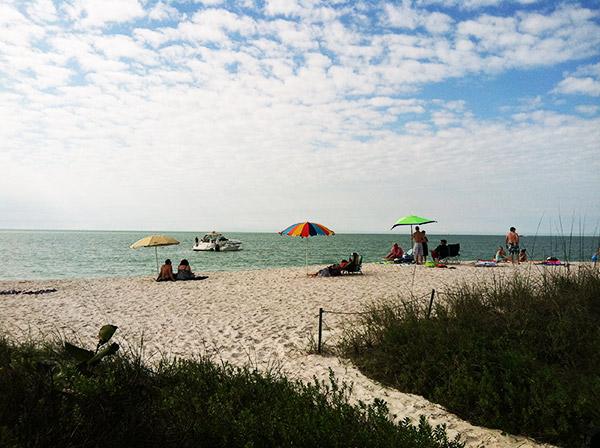 Beach time in Naples, Florida.
