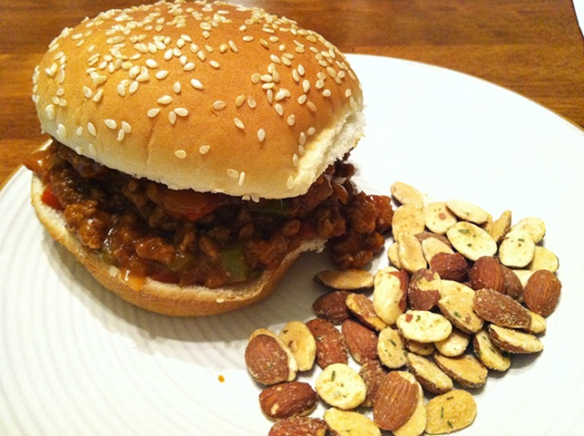 sloppy joe and almonds