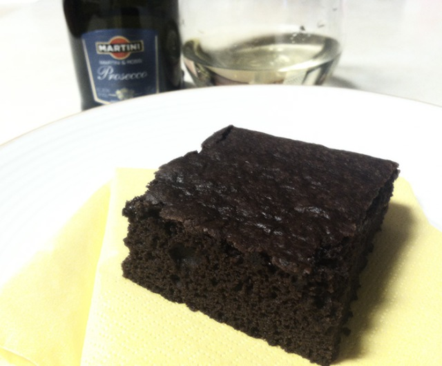 what goes best with champagne? a brownie, of course.