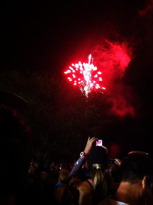 phoenix half marathon fireworks before start