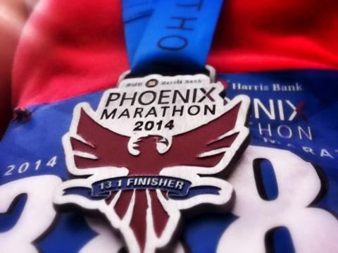 phoenix half marathon medal