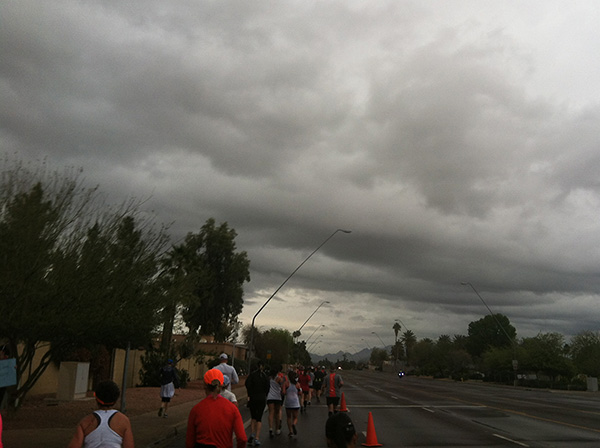 scenic view during the end of the phoenix half marathon