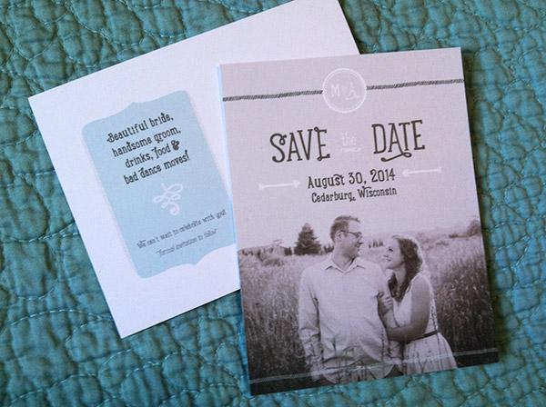 rustic vitage wedding save the date postcards